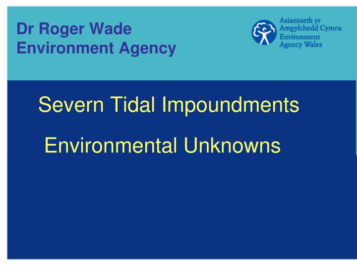 Dr roger wade environment agency