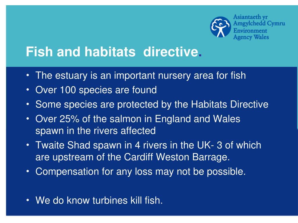 Fish and habitats  directive