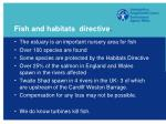 fish and habitats directive
