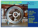 proposed turbine design a 7m diameter straflo turbine
