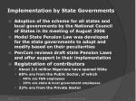 implementation by state governments