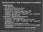 implementation role of employee employer