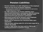 pension liabilities
