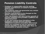 pension liability controls