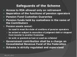 safeguards of the scheme