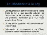 la obediencia a la ley