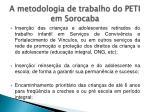 a metodologia de trabalho do peti em sorocaba1