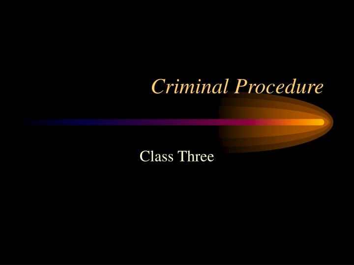 criminal procedure n.