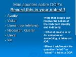 m s apuntes sobre dop s record this in your notes