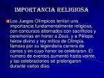 importancia religiosa