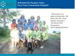 submitted by surgery team grey nuns community hospital