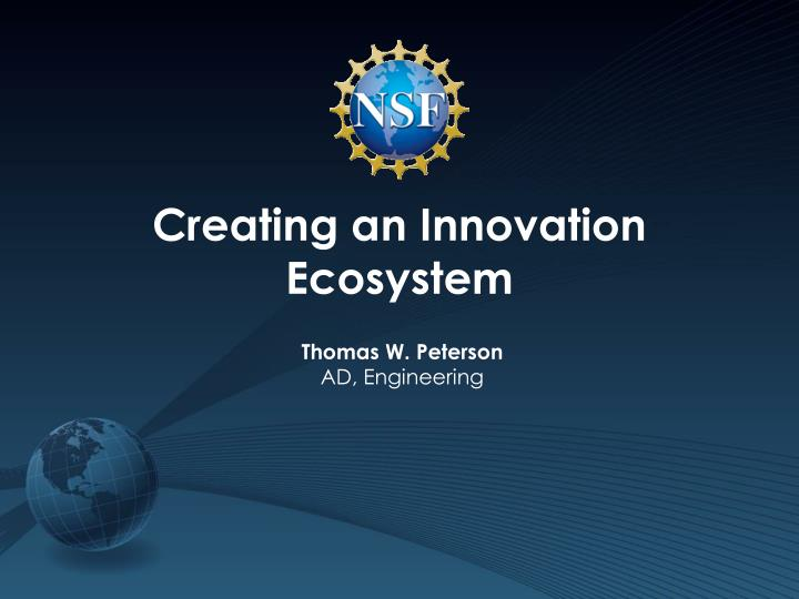 creating an innovation ecosystem n.