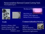 nanocrystalline diamond coated cutting tools vista engineering inc