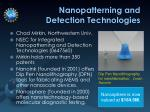 nanopatterning and detection technologies