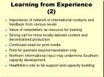 learning from experience 2