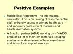 positive examples