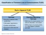 classification of transient loss of consciousness tloc