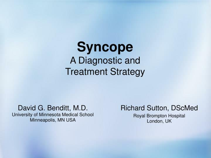 syncope a diagnostic and treatment strategy n.