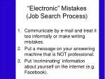 electronic mistakes job search process