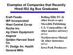 examples of companies that recently hired isu ag bus graduates