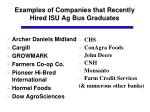 examples of companies that recently hired isu ag bus graduates1