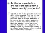is it better to graduate in the fall or the spring from a job opportunity perspective