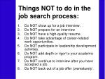 things not to do in the job search process