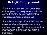 rela o interpessoal