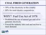 coal fired generation