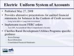 electric uniform system of accounts