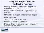 many challenges ahead for the electric program