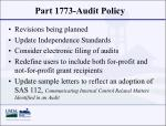 part 1773 audit policy