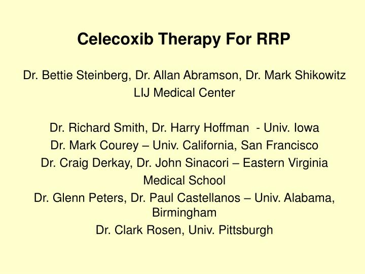 celecoxib therapy for rrp n.