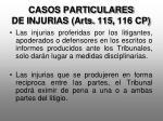 casos particulares de injurias arts 115 116 cp