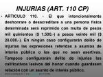 injurias art 110 cp