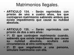 matrimonios ilegales