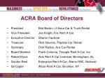 acra board of directors