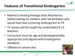 features of transitional kindergarten