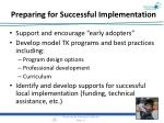 preparing for successful implementation