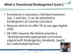 what is transitional kindergarten cont