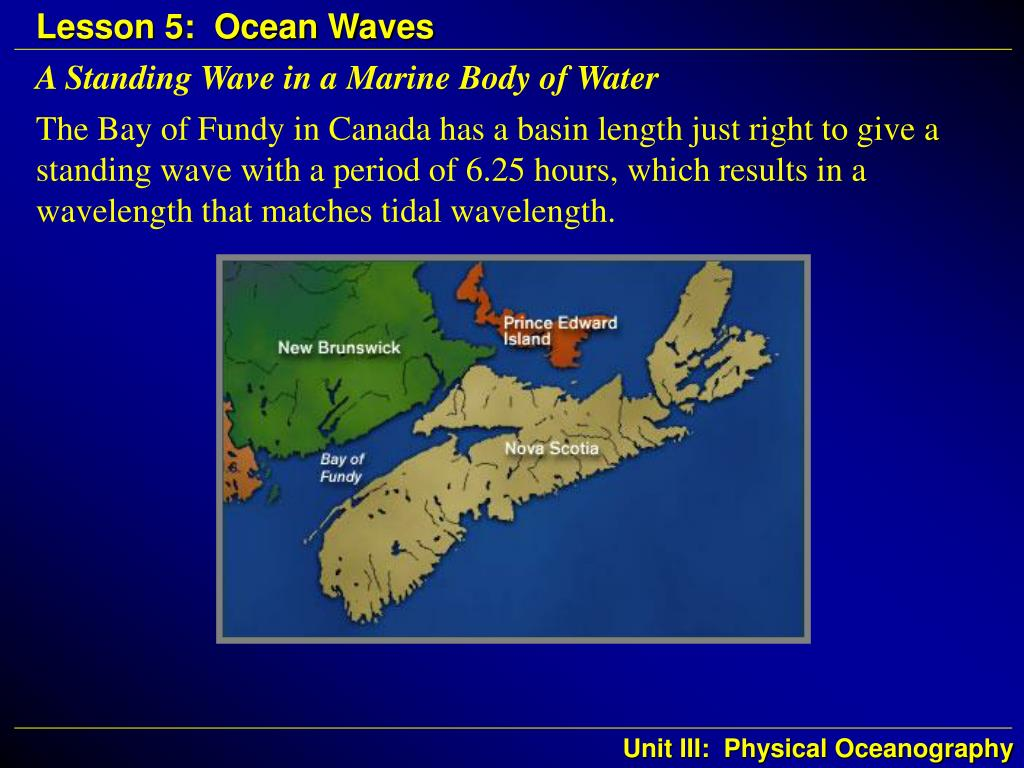 A Standing Wave in a Marine Body of Water
