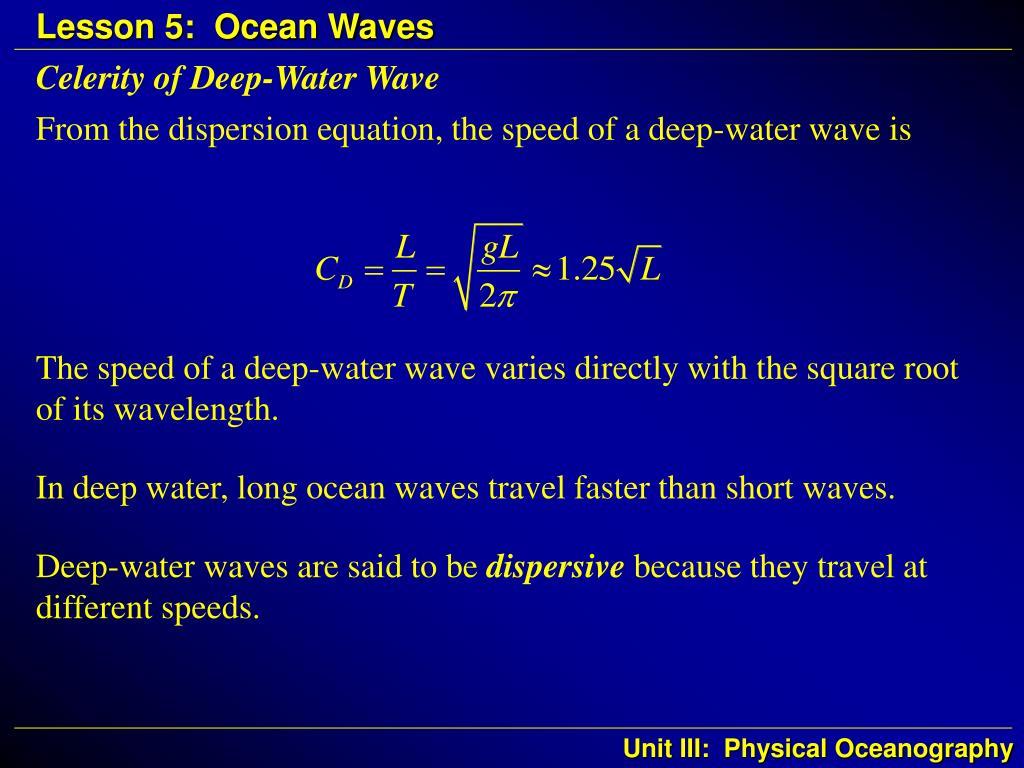 Celerity of Deep-Water Wave