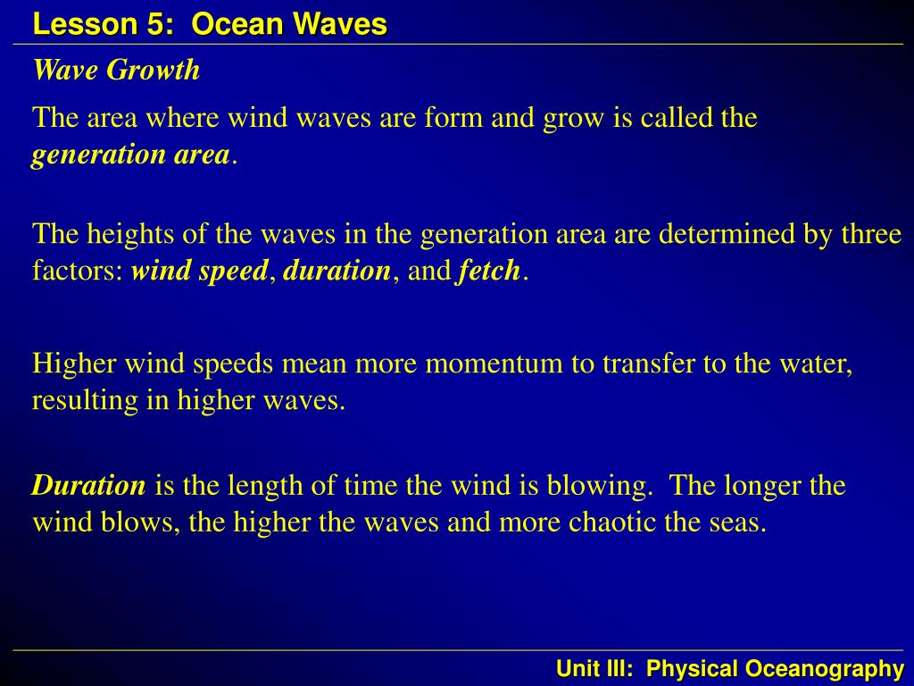 Wave Growth