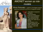 amonet women as r ole models