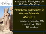 associa o portuguesa de mulheres cientistas