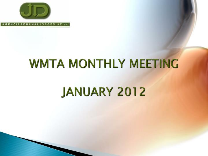 wmta monthly meeting january 2012 n.