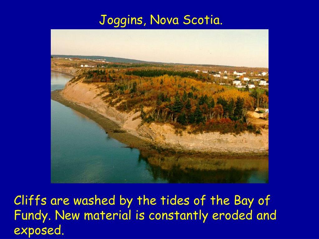 Joggins, Nova Scotia.