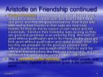 aristotle on friendship continued