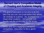 bernard gert s competitive model of cheating and academic integrity