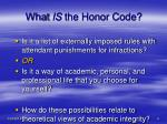 what is the honor code